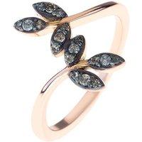 Diamond Leaf Ring Rose Gold - UK M - US 6 - EU 52 3/4
