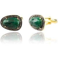 Emerald Cufflink Gold With Diamonds