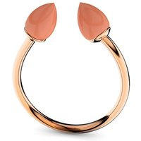 Rose Gold Plated Silver & Coral Ring - UK G - US 3 3/8 - EU 45 1/4
