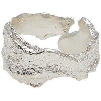 Silver Bark Ring - UK Q - US 8 - EU 57 3/4