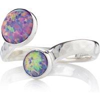 Sterling Silver Purple Opal Ring - UK F 1/2 - US 3 1/8 - EU 44 1/4