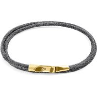 Shadow Grey Liverpool 9ct Yellow Gold and Stingray Leather Bracelet - 19cm