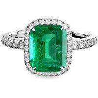 Emerald Diamond Ring - Octagonal - UK N - US 6 1/2 - EU 54