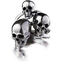 Sterling Silver Large Skull Ring - UK R – US 8 5/8 – EU 59
