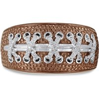 Rhodium Plated Sterling Silver Touchdown American Football Diamond Ring - UK S 1/2 - US 9.5 - EU 60.8