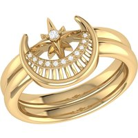 Yellow Gold Plated Nighttime Lovers Detachable Ring - UK R 1/2 - US 9 - EU 59.5