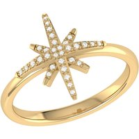 14kt Yellow Gold Plated North Star Ring - UK T 1/2 - US 10 - EU 62