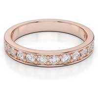 18kt Rose Gold Half Eternity Ring With Round-Cut, Prong-Set Diamonds II