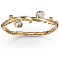 Gold & Two-Diamond Seafire Ring | Bergsoe - UK J 1/2 - US 5 - EU 49 1/2