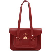 Cambridge Satchel The Prince's Foundation Twist Lock Tote in Leather - Red Celtic Grain