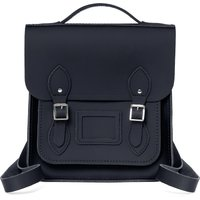 Cambridge Satchel Small Portrait Backpack in Leather - Navy