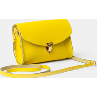 The Cambridge Satchel Co. Womens Yellow Leather Clutch Bag