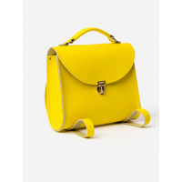 The Cambridge Satchel Co. Womens Yellow Leather Backpack