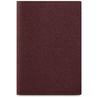 Cambridge Satchel Passport Cover in Saffiano Leather - Oxblood