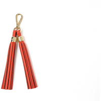Cambridge Satchel Tassel Keychain in Leather - Chilli Jam Matte