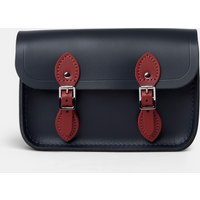 Cambridge Satchel The Little One in Leather - Navy & Red