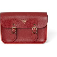 Cambridge Satchel Year of the Ox Exclusive: The Little One in Leather - Pillar Box Red Celtic Grain