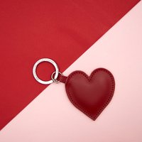 Cambridge Satchel Limited Edition Heart Keyring in Leather - Red