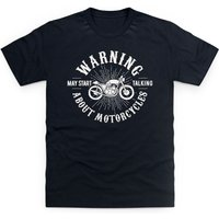 May Start Talking About Motorcycles Kid's T Shirt - Shot Dead In The Head Gifts