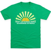 Morning People Kid's T Shirt - Shot Dead In The Head Gifts