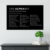 The ALPHAbet Poster - Shot Dead In The Head Gifts