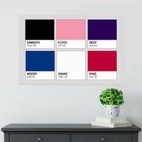 Band Pantones Poster - Shot Dead In The Head Gifts