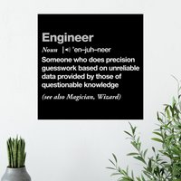 Definition Of An Engineer Poster - Shot Dead In The Head Gifts