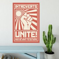 Introverts Unite Poster - Shot Dead In The Head Gifts