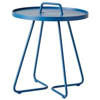 CANE-LINE On-the-move Outdoor Side Table Small Aluminium Dusty Blue