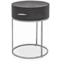 DI Designs Hampton Black Round Bedside Table