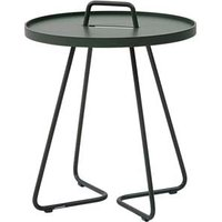 CANE-LINE On-the-move Outdoor Side Table Small Aluminium Dark Green