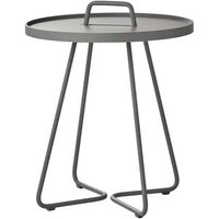 CANE-LINE On-the-move Outdoor Side Table Small Aluminium Light Grey