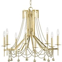 Hudson Valley Lighting Zariah Brass 8 Light Chandelier