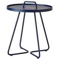 CANE-LINE On-the-move Outdoor Side Table Small Aluminium Midnight Blue