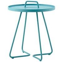 CANE-LINE On-the-move Outdoor Side Table Small Aluminium Aqua