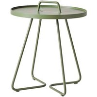 CANE-LINE On-the-move Outdoor Side Table Small Aluminium Olive Green