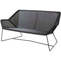 CANE-LINE Breeze 2-seater Lounge Outdoor Sofa Fiber Black