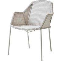 CANE-LINE Breeze Chair Fiber White Grey (2pk)