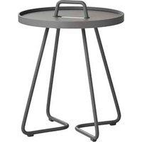 CANE-LINE On-the-move Outdoor Side Table X-Small Aluminium Light Grey