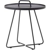 CANE-LINE On-the-move Side Table Small Aluminium Black