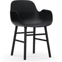 Normann Copenhagen Form Black Oak Legs Occasional Chair / Grey