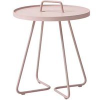 CANE-LINE On-the-move Outdoor Side Table Small Aluminium Dusty Rose