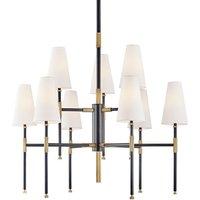 Hudson Valley Lighting Bowery Brass 9 Light Chandelier