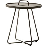 CANE-LINE On-the-move Outdoor Side Table Small Aluminium Taupe