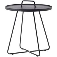 CANE-LINE On-the-move Outdoor Side Table Large Aluminium Black
