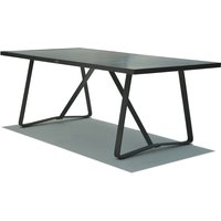 Skyline Horizon Carbon Finish Outdoor Dining Table / Large