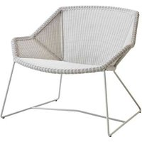 CANE-LINE Breeze Lounge Outdoor Chair Fiber White Grey