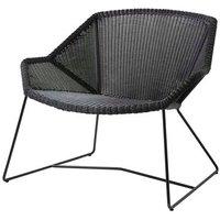 CANE-LINE Breeze Lounge Outdoor Chair Fiber Black