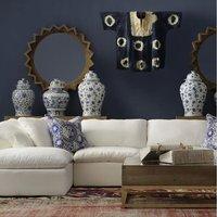 Andrew Martin Truman Junior White Sectional Sofa / Corner