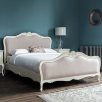 Gallery Direct Chic King Size Upholstered Bed in Grey Linen
